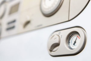 Thermostat d'une chaudière vu de près